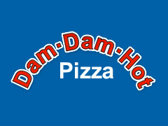 Dam Dam Hot Pizza Heimservice Logo